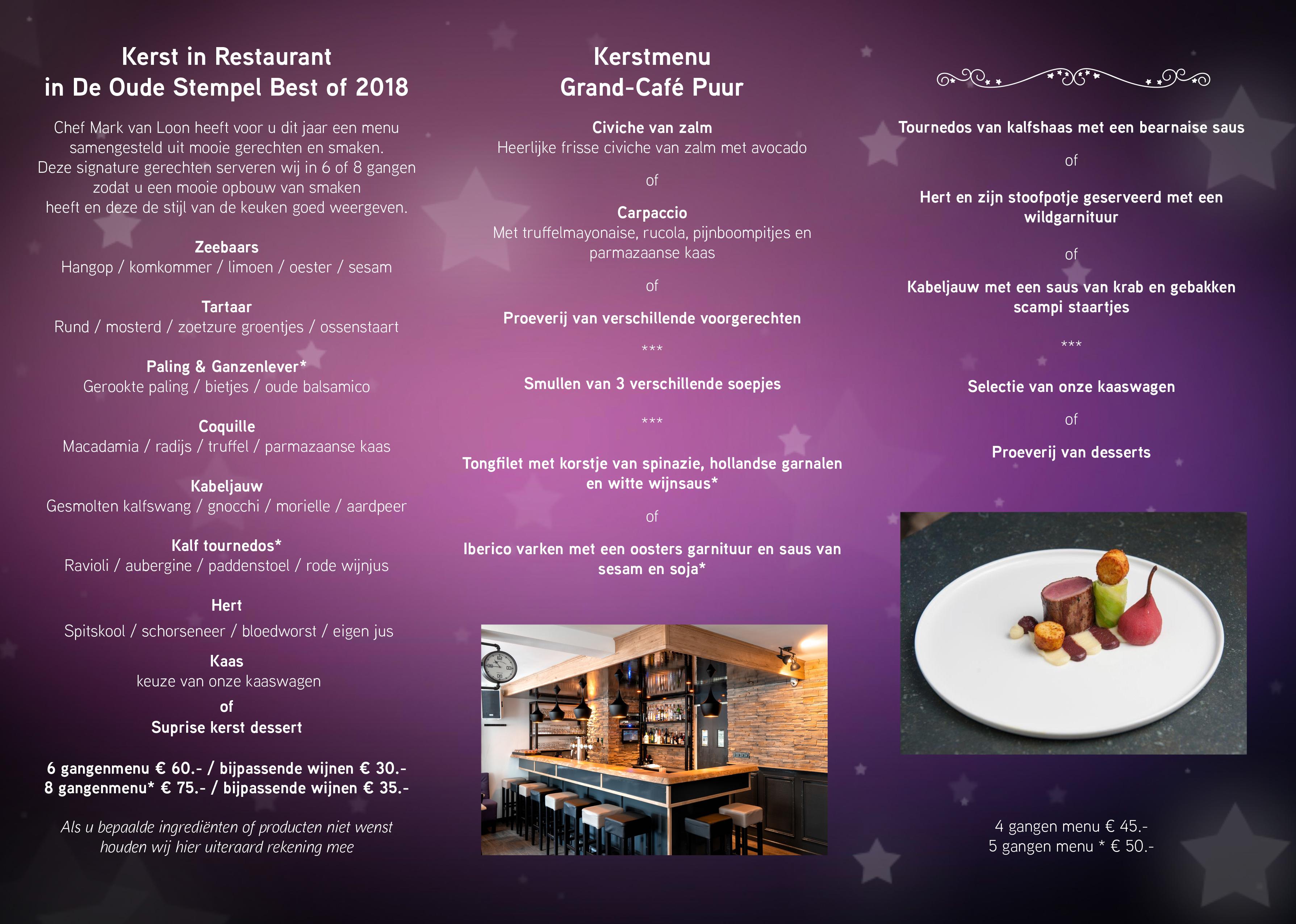 Kerstfolder 2018 2 Brasserie Puur